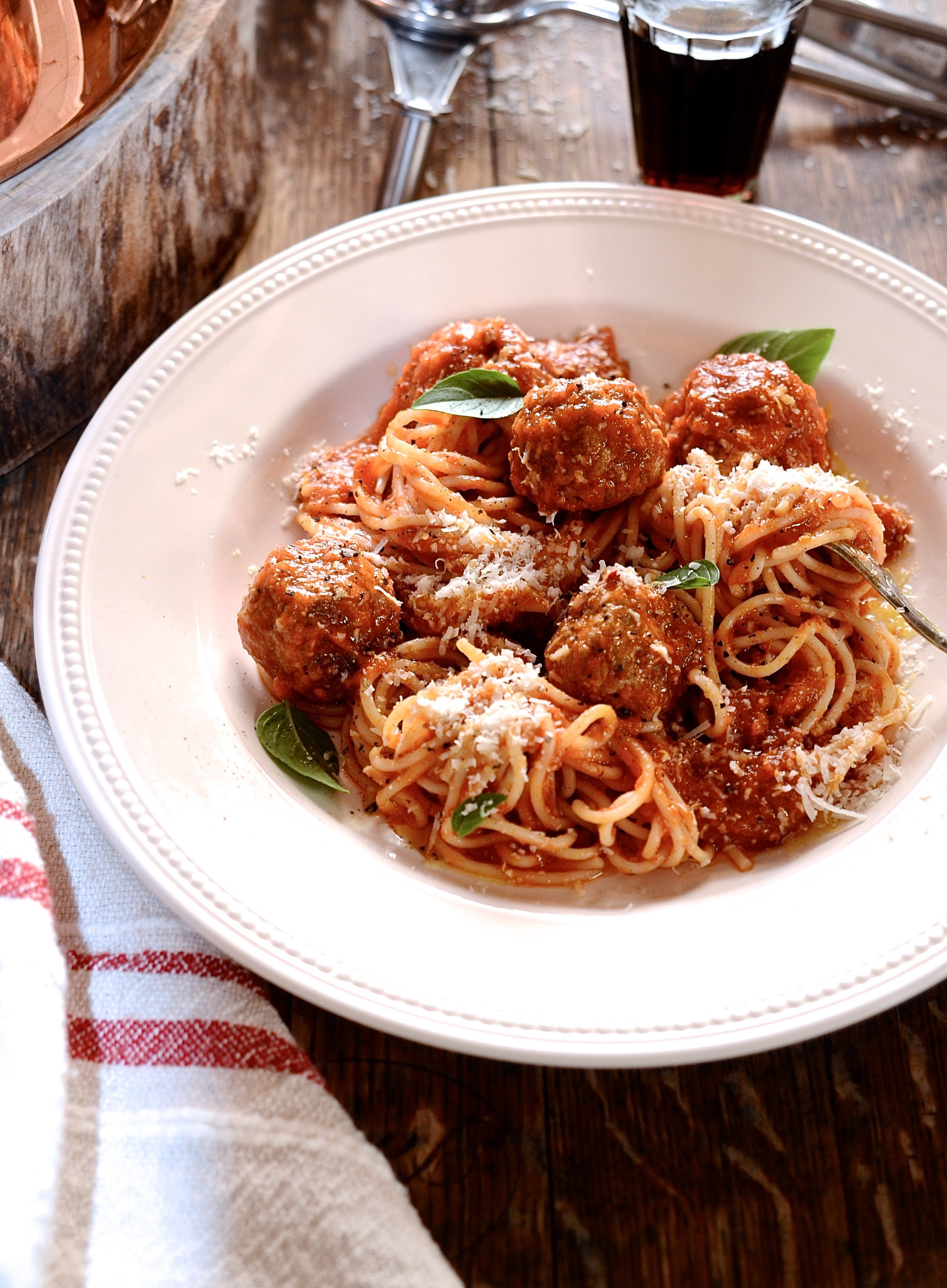 Prosciutto meatballs and spaghetti | Family favourite pasta recipe