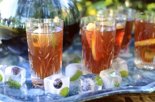 Cranberry and cinnamon rooibos iced tea   Bibbyskitchen recipes