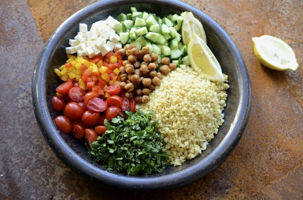 Tabbouleh inspired bulgur wheat salad | Bibby's Kitchen healthy recipes