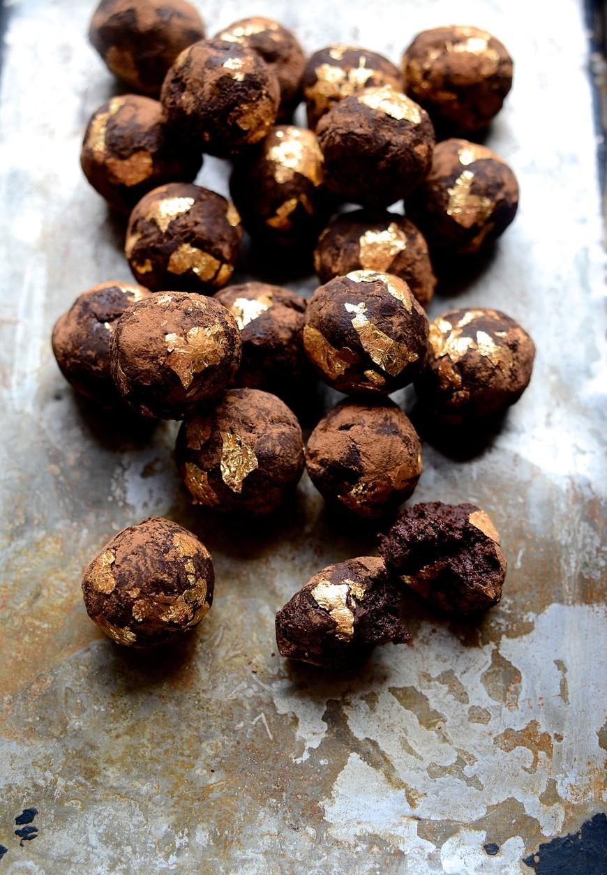 African Amarula gilded chocolate truffles | Bibbyskitchen recipes