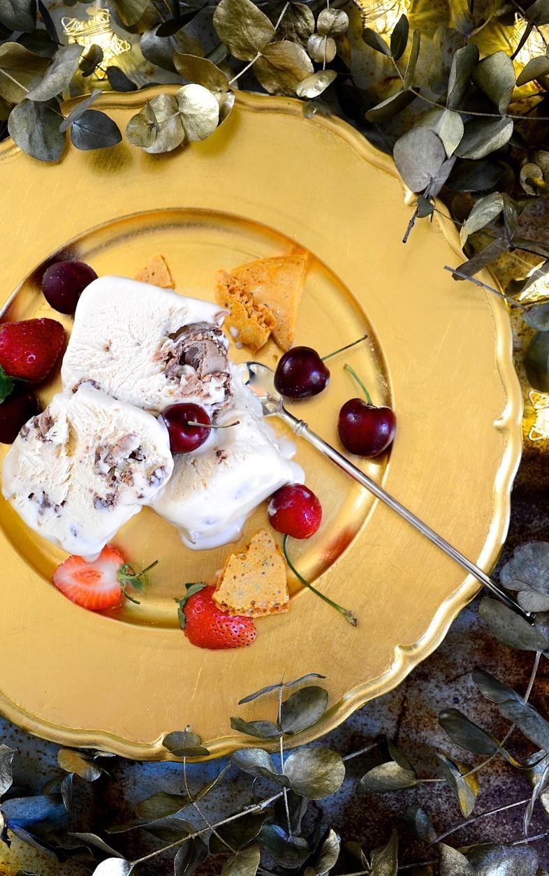 Ferrero Rocher ice cream cake