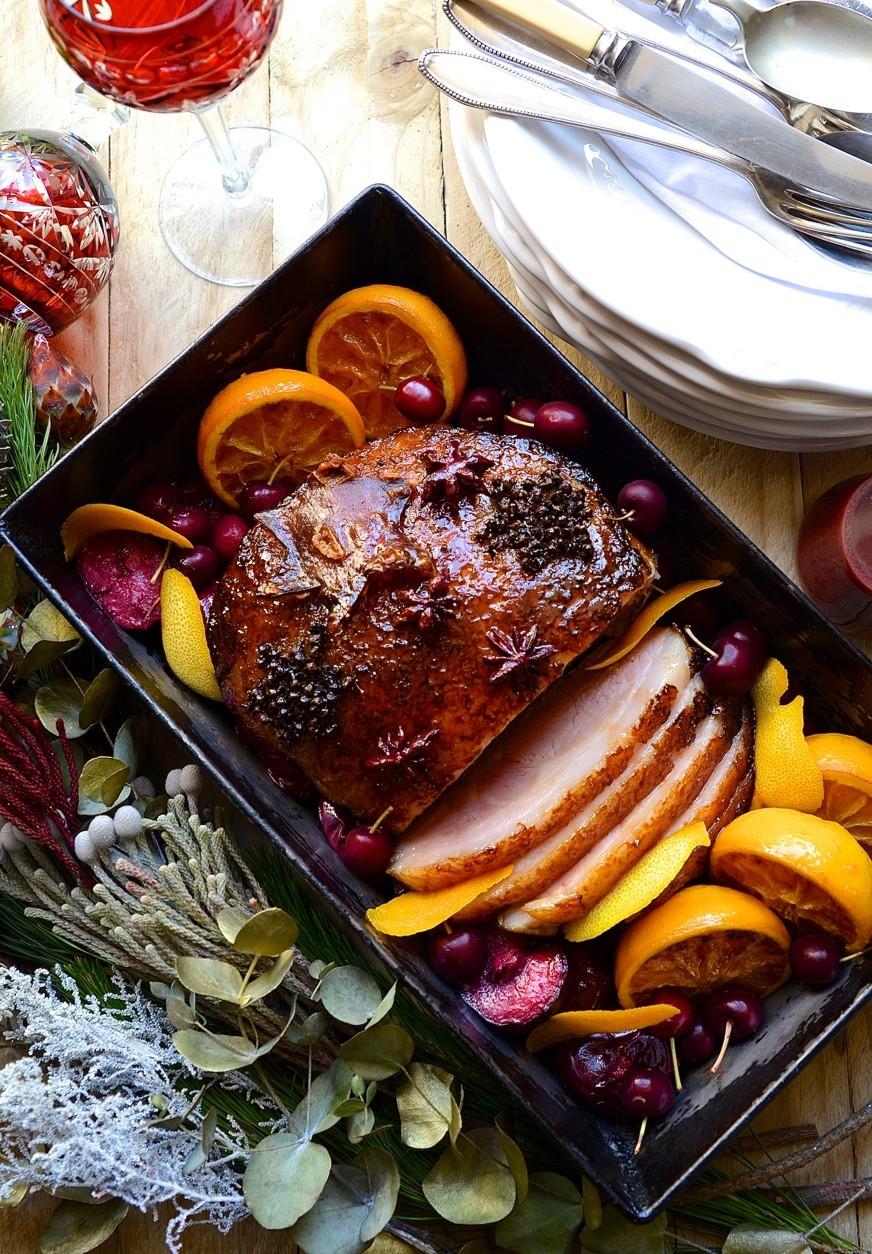 Maple glazed gammon with plum sauce | Bibbyskitchen roast recipes