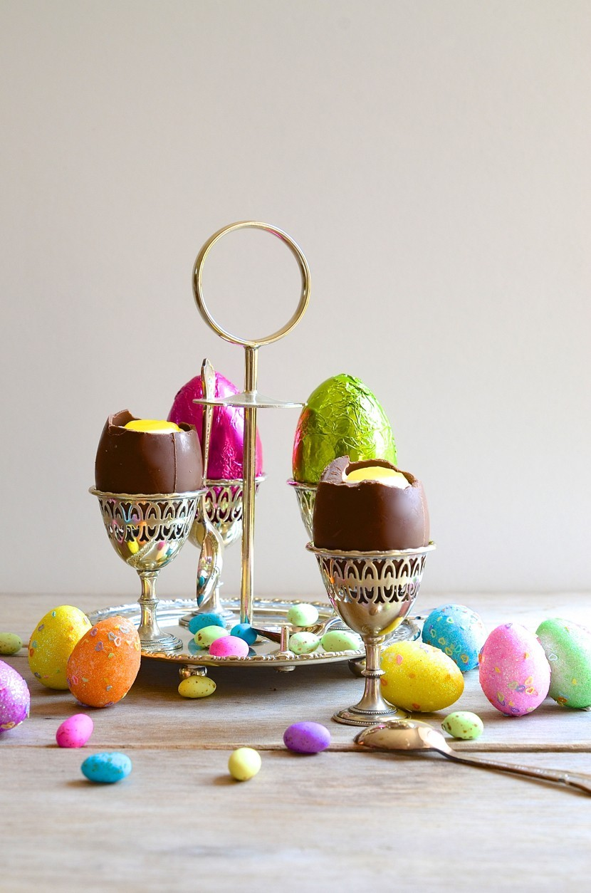 Easter egg cups with white chocolate mousse and lemon curd yolks + Baked Nutella chocolate mousse torte | Dianne Bibby is a Johannesburg food stylist, recipe developer, and food blogger. | Egg