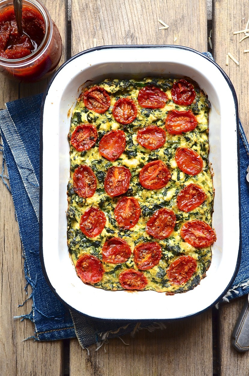 Zucchini ricotta slice with candied tomatoes | Bibby's Kitchen @ 36