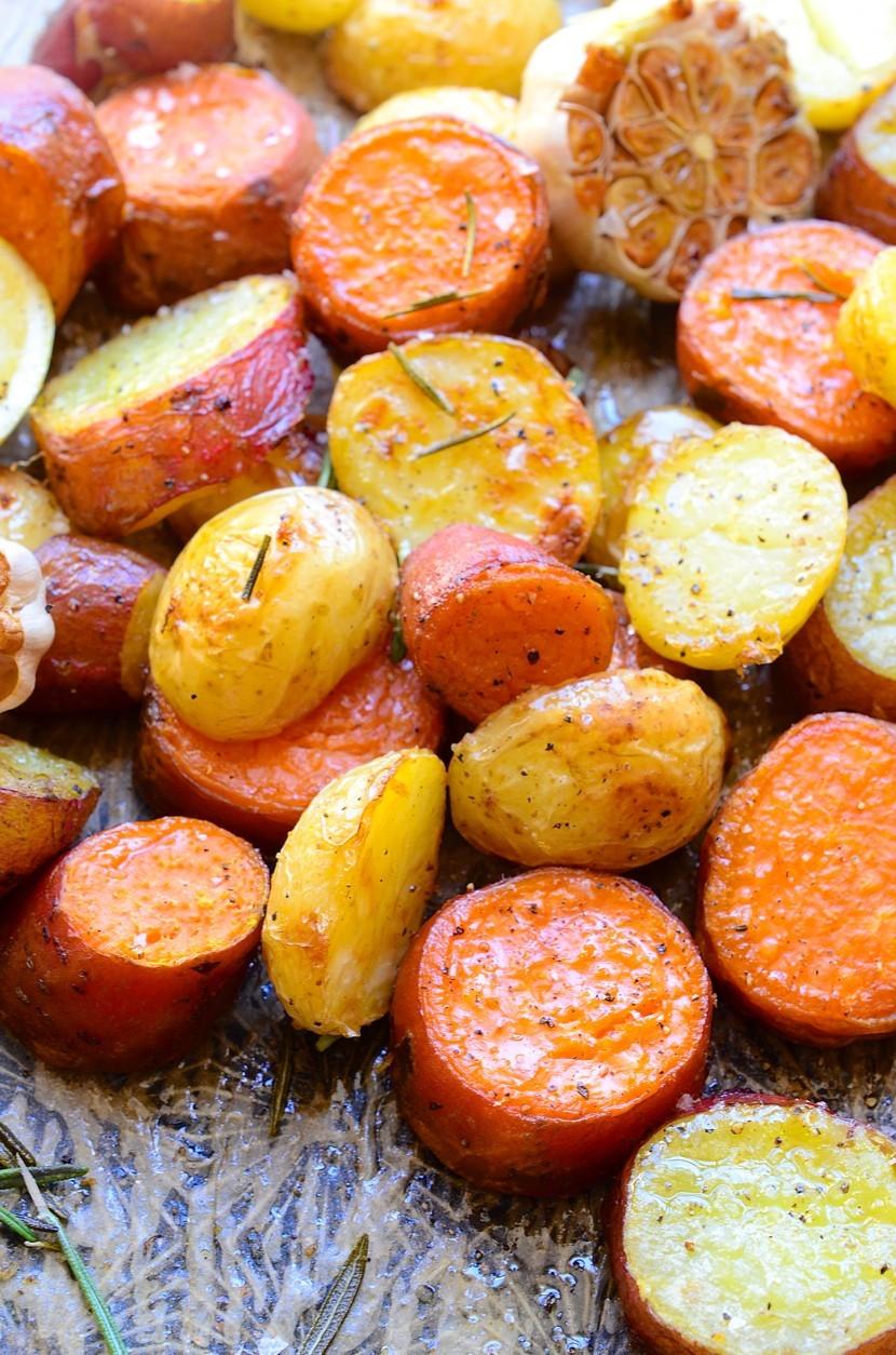 Rosemary roast potatoes|garlic and lemon