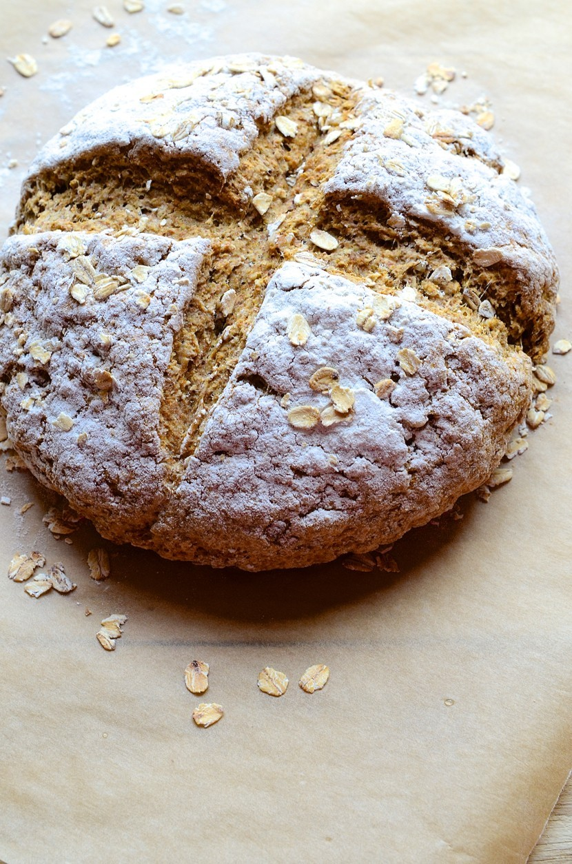 Wholemeal Irish soda bread with walnuts and oats + Ruby-red Muscadel grape preserve | Dianne Bibby is a Johannesburg food stylist, recipe developer, and food blogger. | Soda