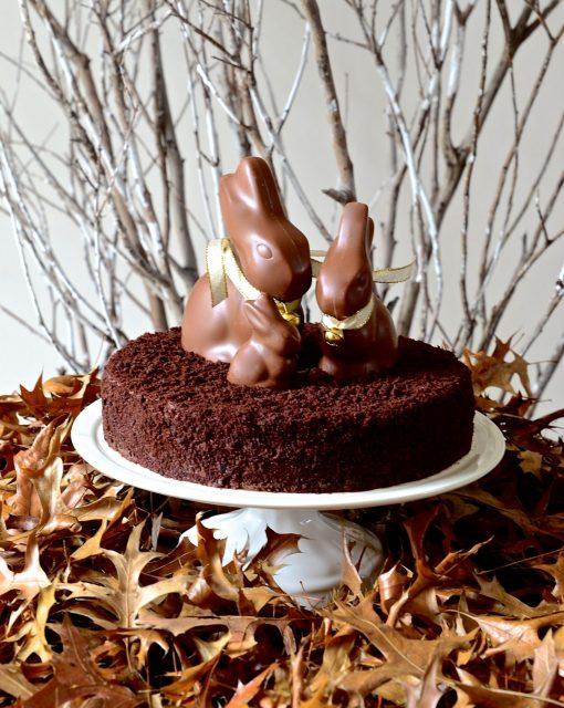 Nutella chocolate mousse torte