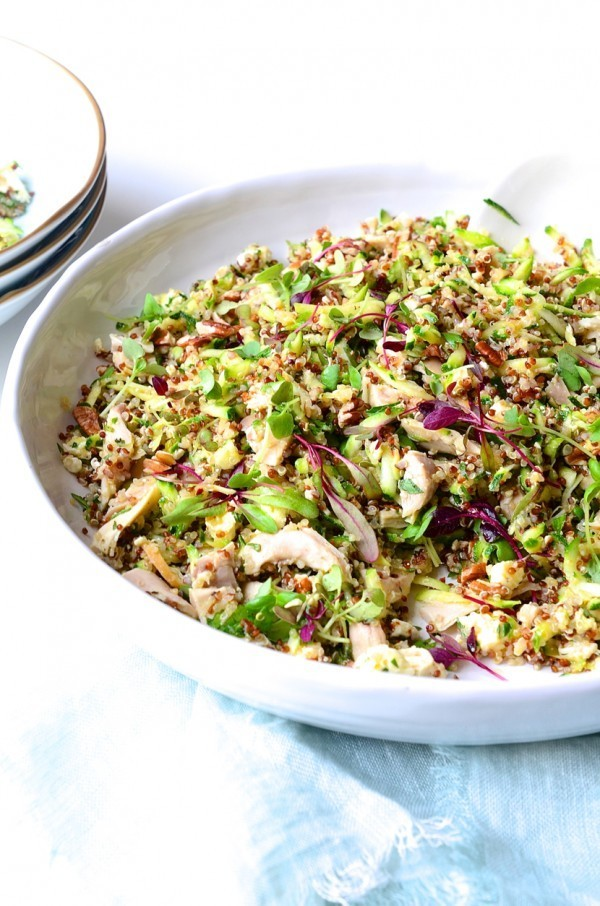 Chicken, Quinoa & Courgette Salad | Roasted Pecan Nuts