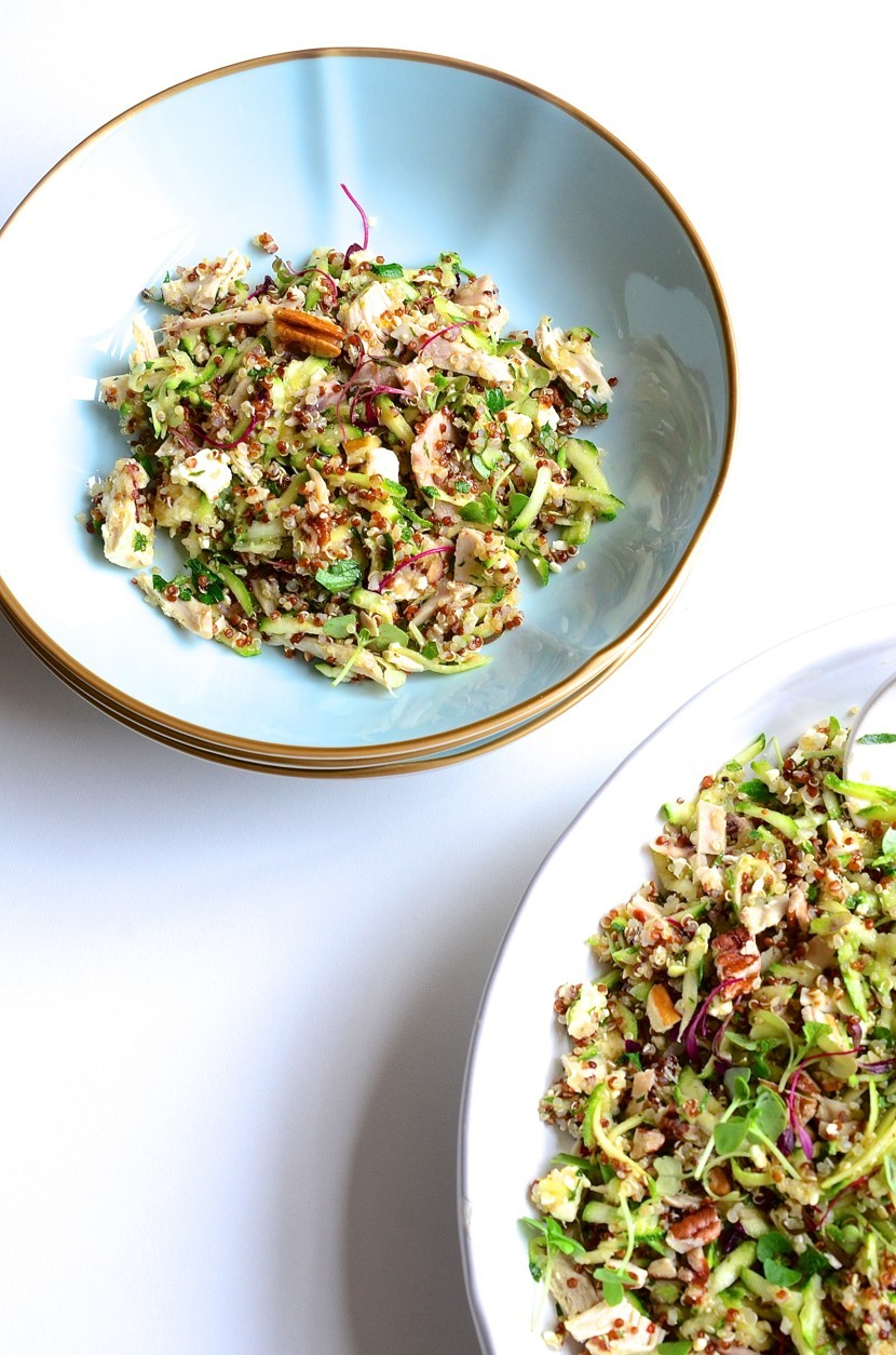 Chicken quinoa salad with honey crunch apples, feta and pecans | Dianne Bibby is a Johannesburg food stylist, recipe developer, and food blogger. | Quin