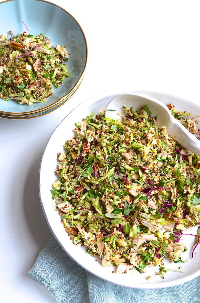 Chicken quinoa salad with honey crunch apples, feta and pecans | Dianne Bibby is a Johannesburg food stylist, recipe developer, and food blogger. | Quinoa