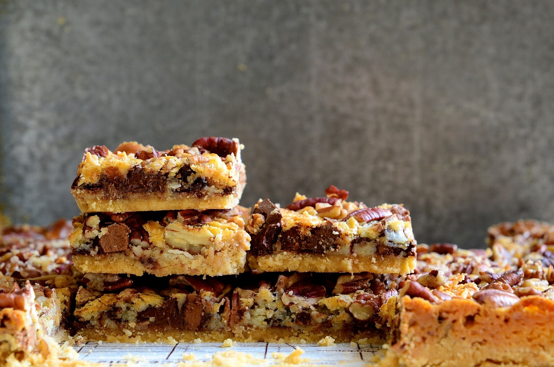 Peanut butter and caramel-toffee chocolate bars|baking recipes