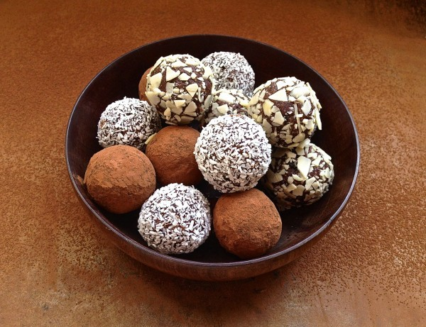 Chocolate-date truffles with coconut and cranberries | Bibby's Kitchen