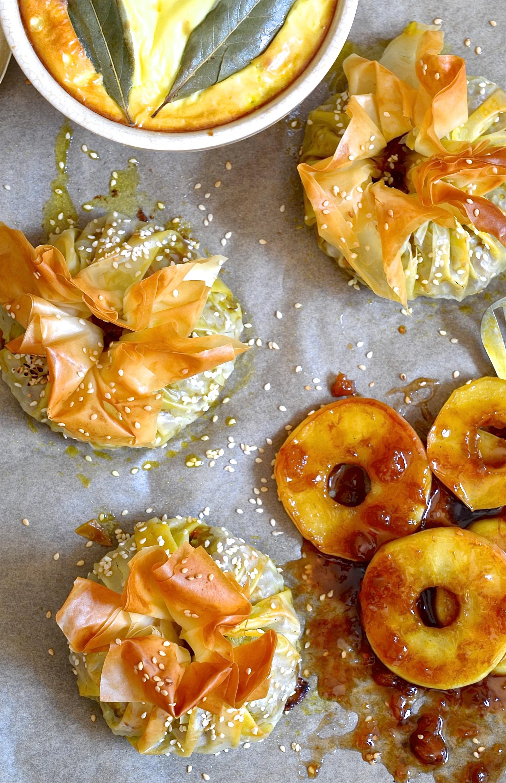 Bobotie filo parcels with apple ring chutney   Bibbyskitchen recipes