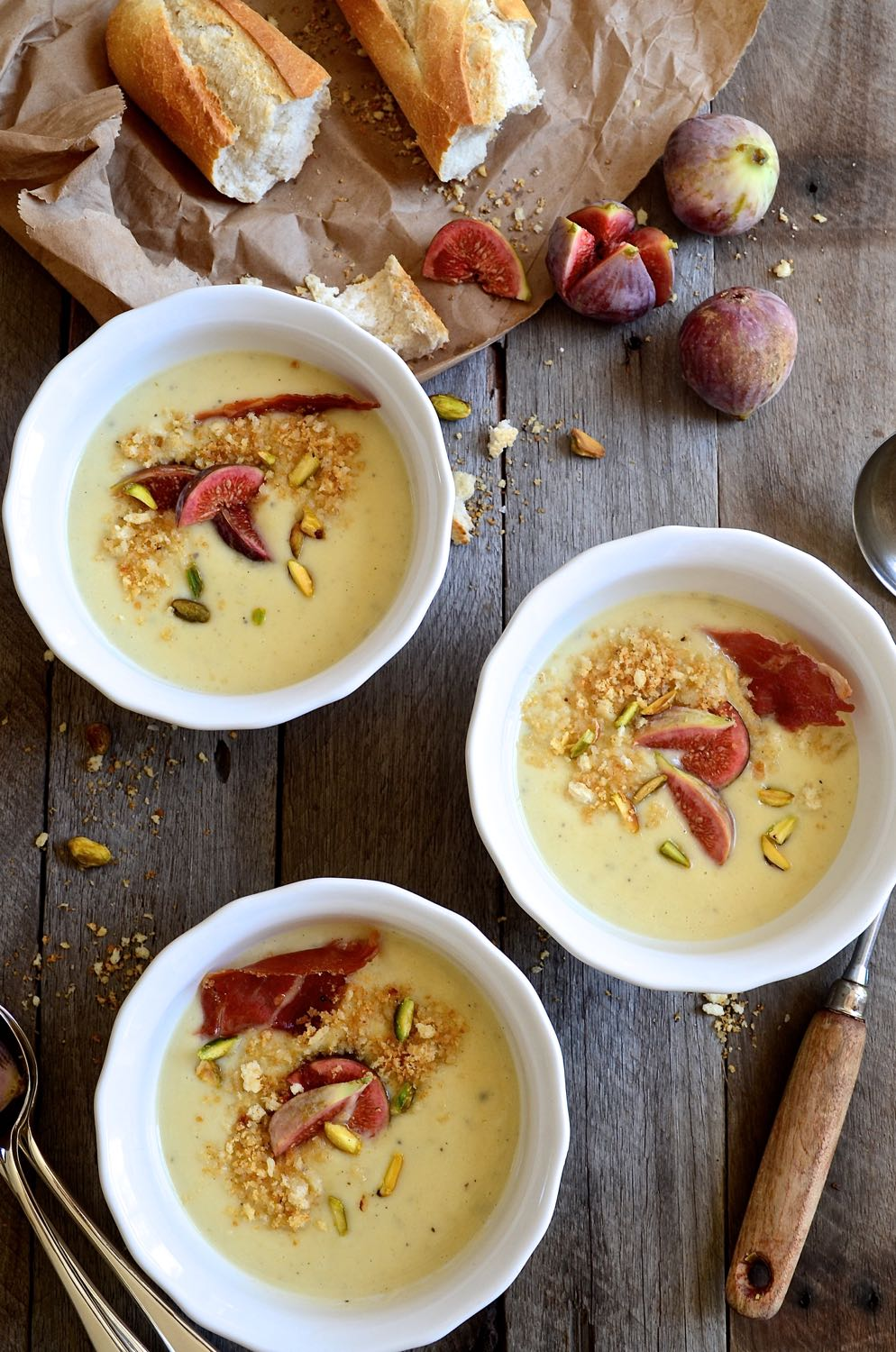 Creamed Parsnip and apple soup with blue cheese & figs | Bibbyskitchen