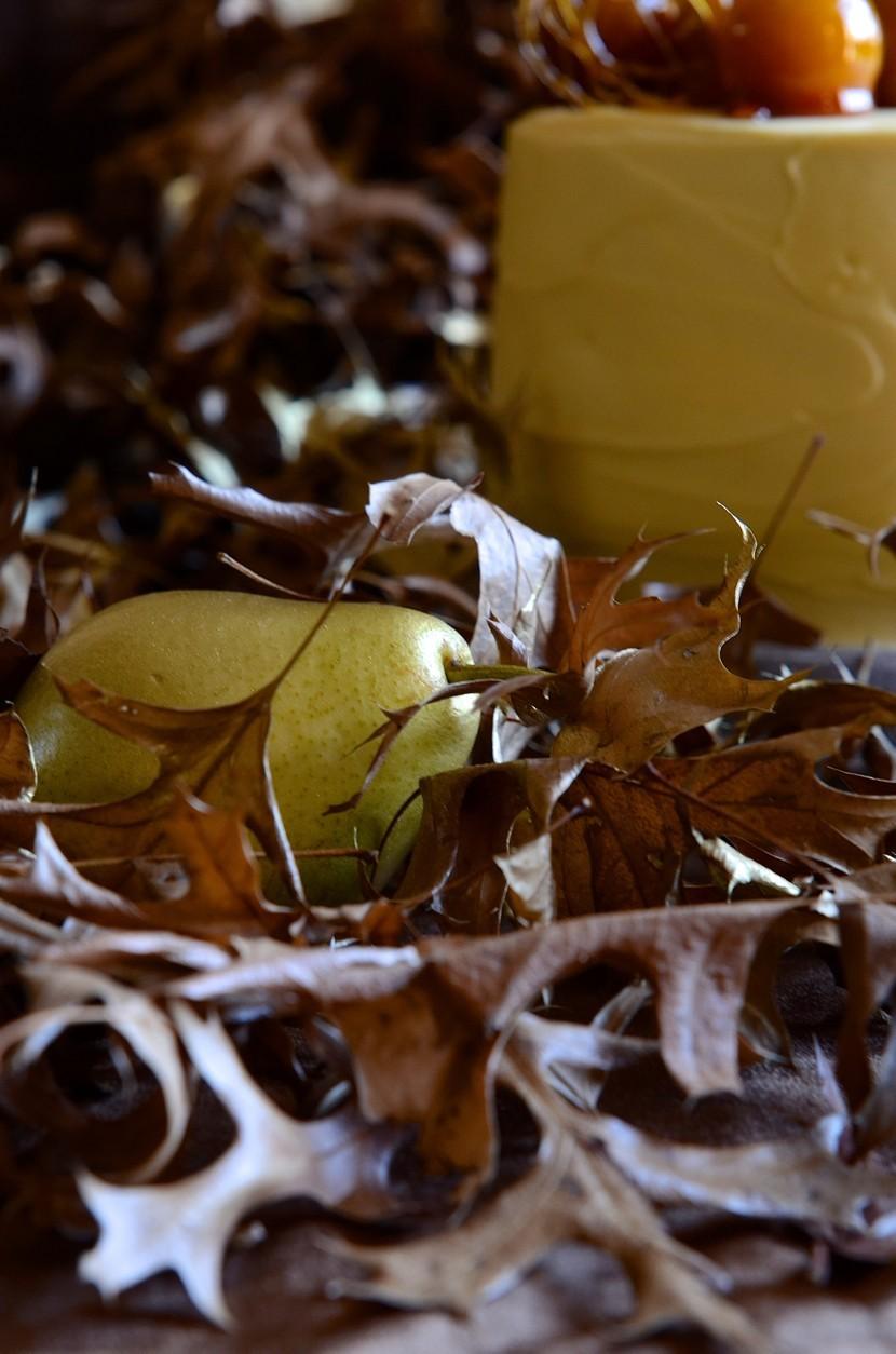 Pear and apple cake with maple mascarpone cream