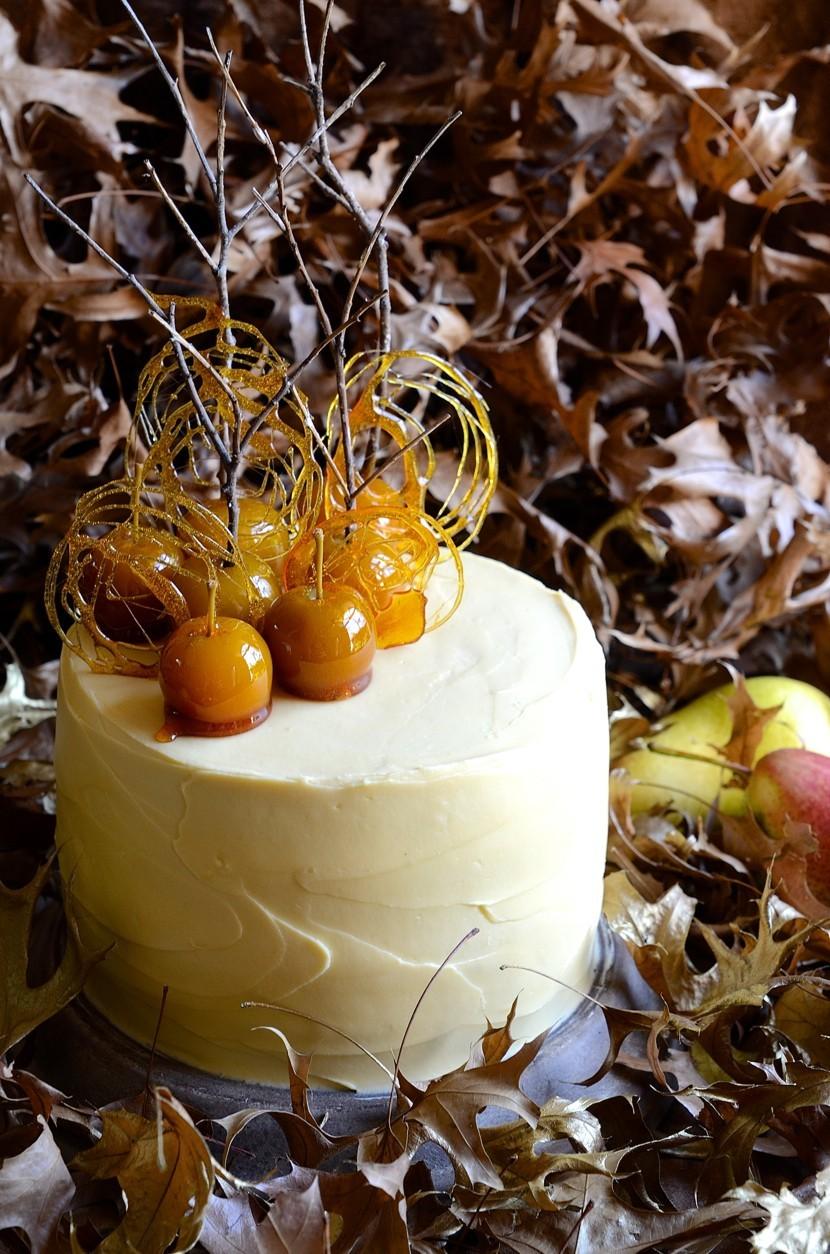 Pear and apple cake with maple mascarpone cream  Baking  Cake Friday 