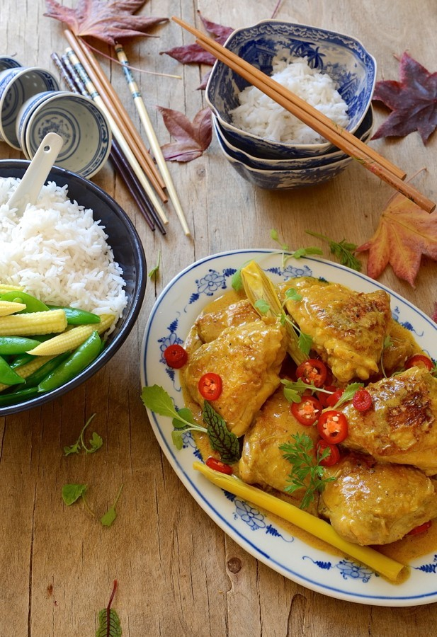 Yellow Thai chicken curry Asian flavours