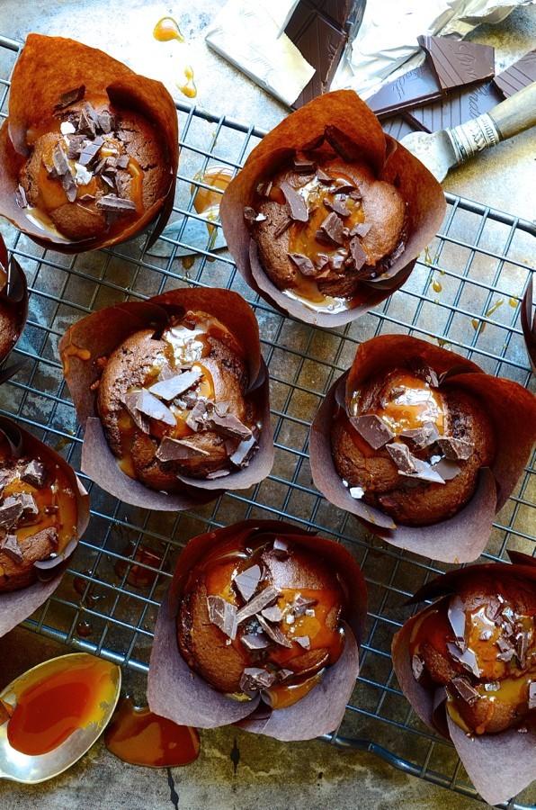 Triple chocolate banana muffins