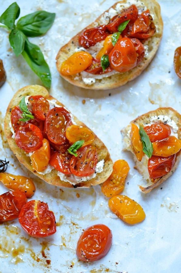 Candied Tomato Bruschetta, Ricotta & Goat's Cheese | Bibbyskitchen ...