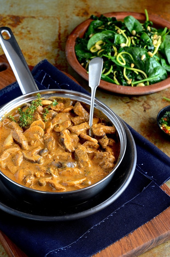 Fillet of Beef Whisky Stroganoff | South African food