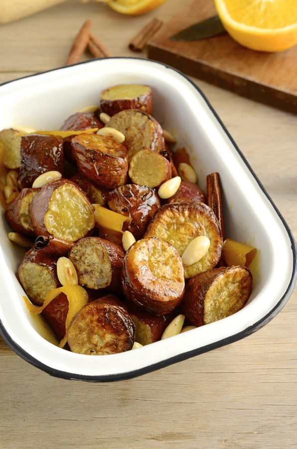 Roast sweet potatoes with orange & honey syrup | South African foods