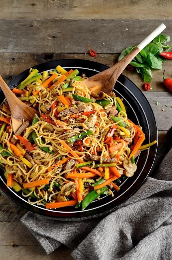 Korean beef stir-fry with egg noodles | Bibby's Kitchen @ 36