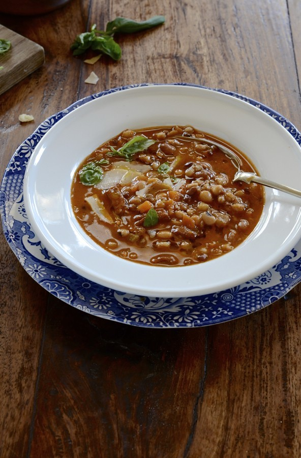 Tuscan Farro bean soup with pancetta|winter soups recipes