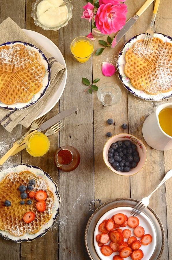 Pumpkin pie waffles with orange and brandy syrup | Dianne Bibby is a Johannesburg food stylist, recipe developer, and food blogger. | BK waf