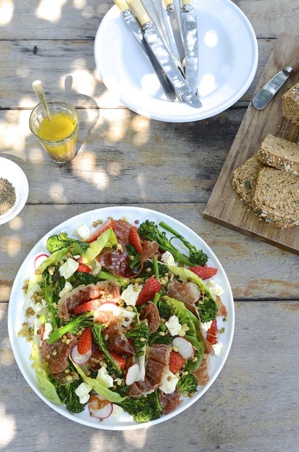 Prosciutto, Strawberry and Feta Salad|Braai day salads