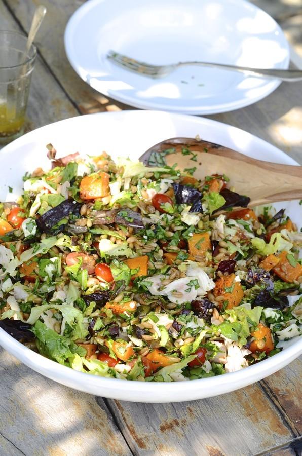 Roast chicken and spelt salad bowl | Bibby's Kitchen @ 36