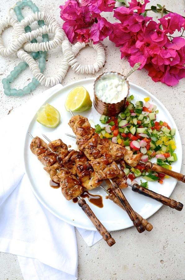 Greek Chicken kebabs| Bibbyskitchen braai day recipes