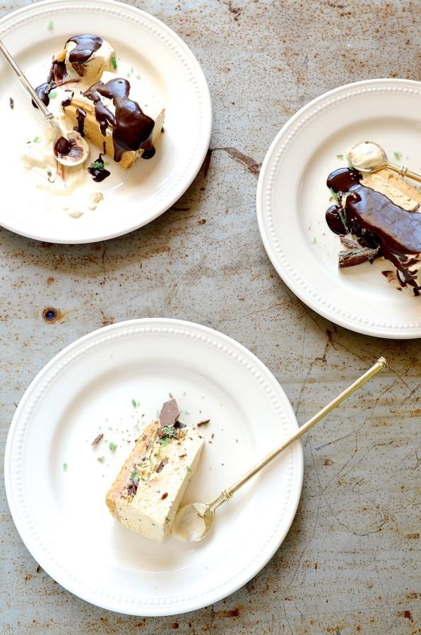 Peppermint crisp ice cream pudding-cake | A Bibbyskitchen recipe