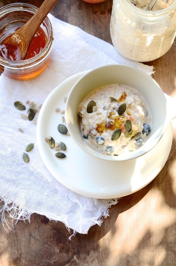 Creamy Overnight Bircher muesli | Healthy breakfast recipes