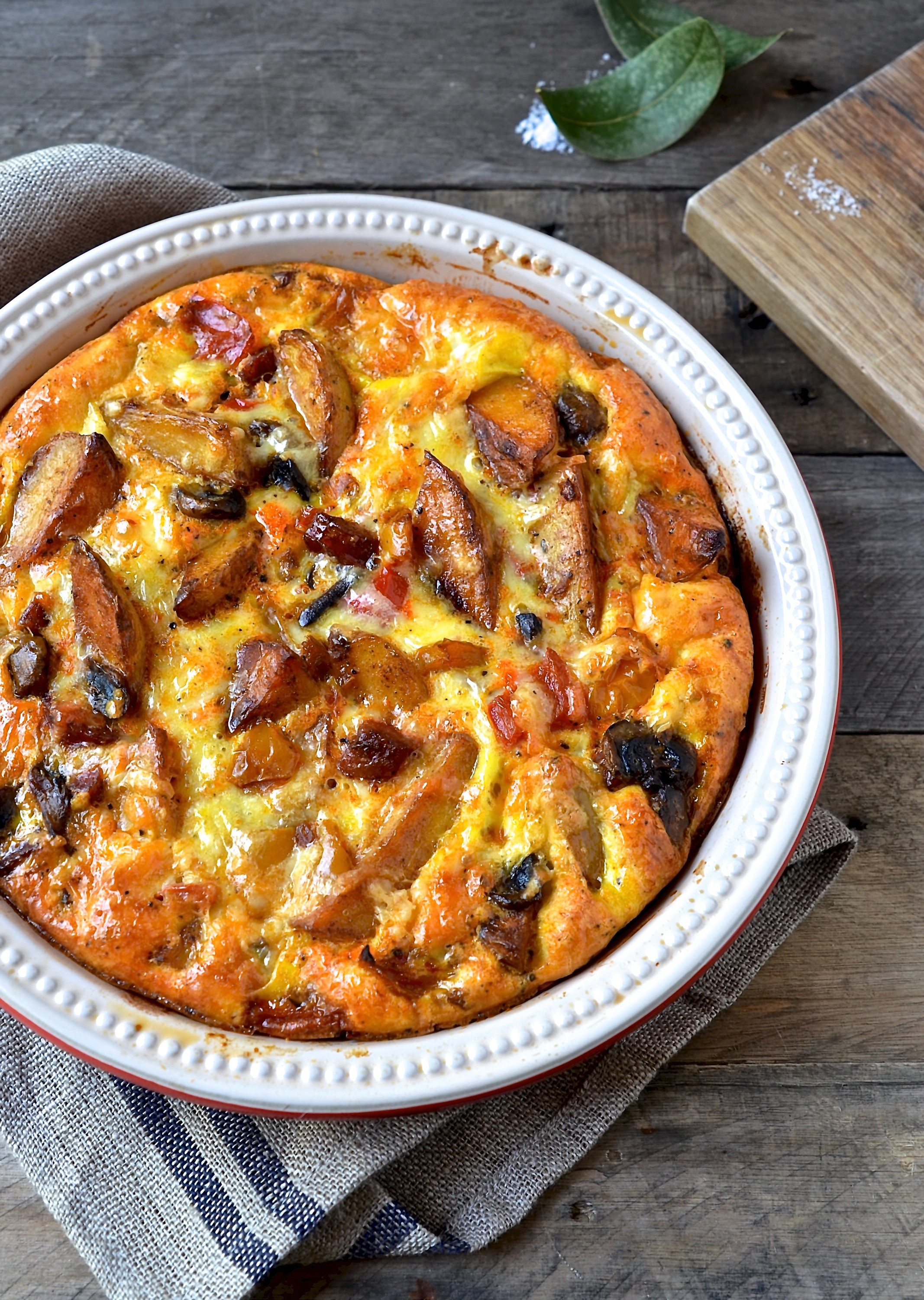Chorizo and potato frittata | Bibbyskitchen easy supper recipes