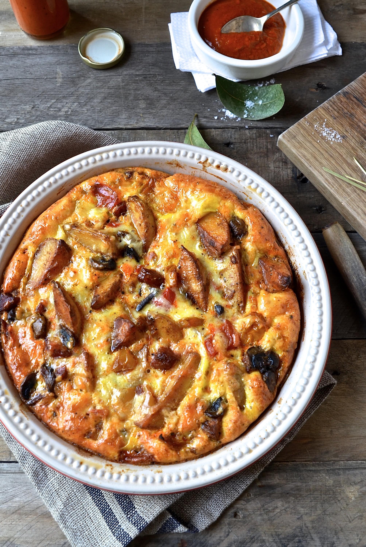 Chorizo and potato frittata | Bibbyskitchen easy supper recipes
