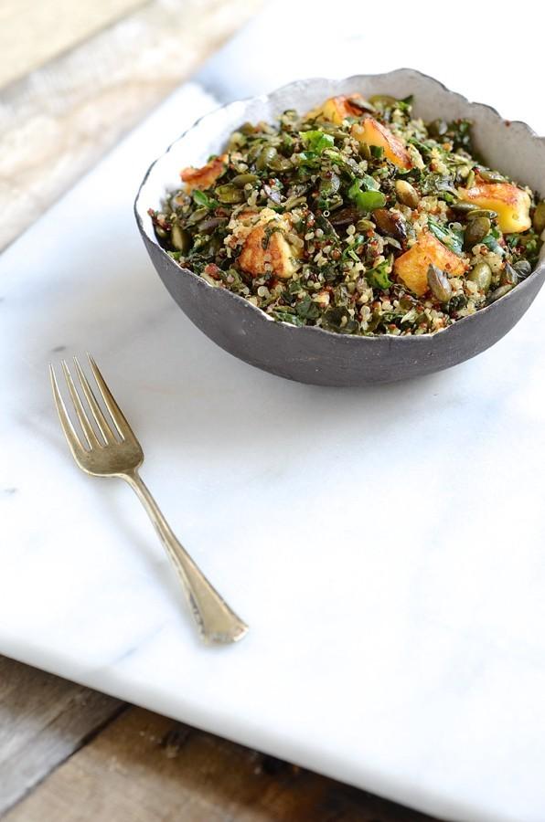 Quinoa, chard and halloumi salad_2