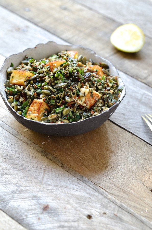 Quinoa, chard and halloumi salad_3