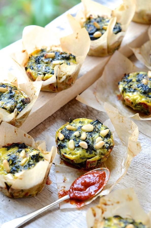 Cheesy spinach and zucchini muffins| Bibbyskitchen recipes| SA food blog| Foodstyling|