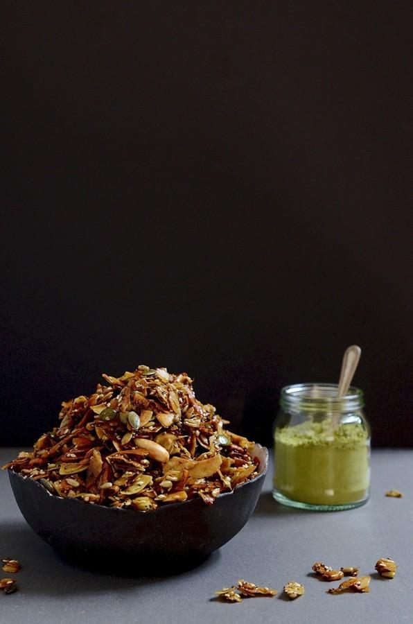 Matcha chia granola | Bibbyskitchen Gluten-free granola recipes