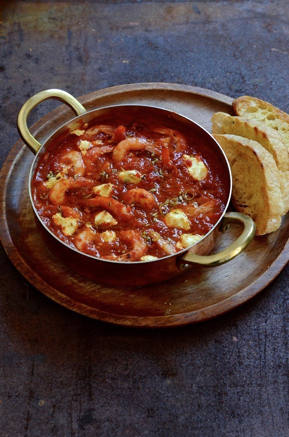 Prawn bake with feta and fennel-chilli butter   Bibby's Kitchen @ 36