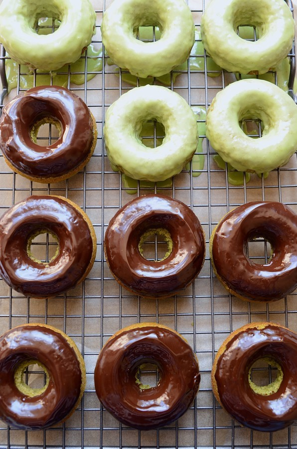 Baked apple matcha donuts | Bibbyskitchen baking recipes