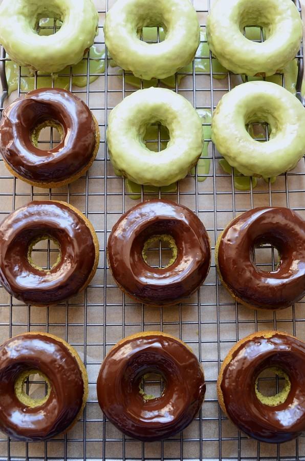 Baked apple matcha donuts | Bibbyskitchen baking recipes