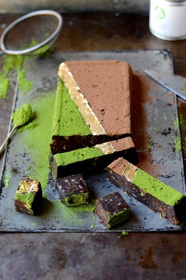 Matcha date fudge | Bibbyskitchen Healthy treats recipes
