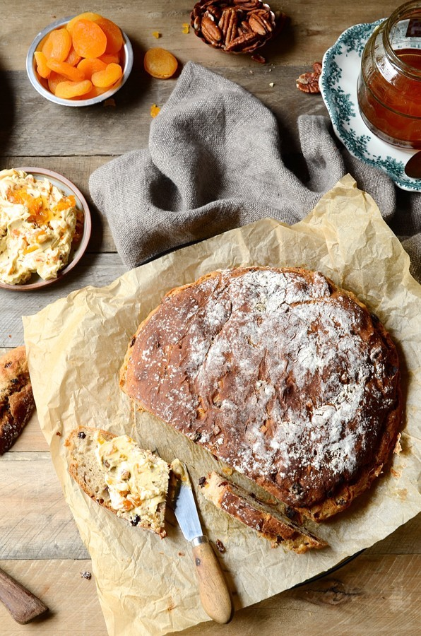 Hot cross bun scroll scones   Bibbyskitchen Easter baking recipes