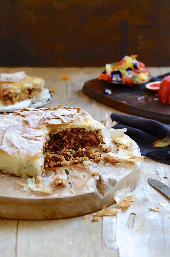 Chicken pastilla with freekeh and almonds | Bibby's Kitchen @ 36