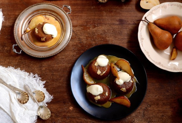 Caramel malva pudding with cognac pears | South Africa's favourite pud