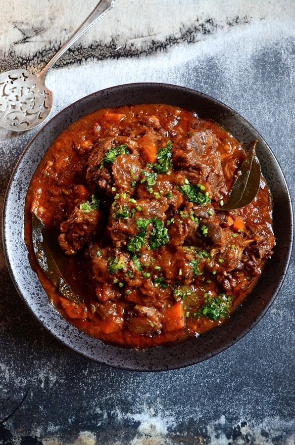 Slow braised Red wine Oxtail