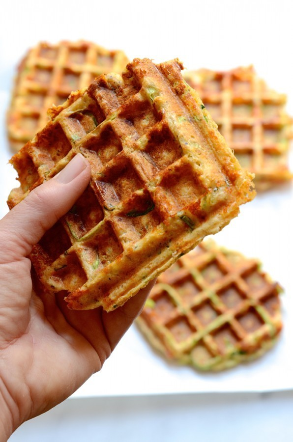 The best cheesy vegetable waffles | Healthy breakfast recipes