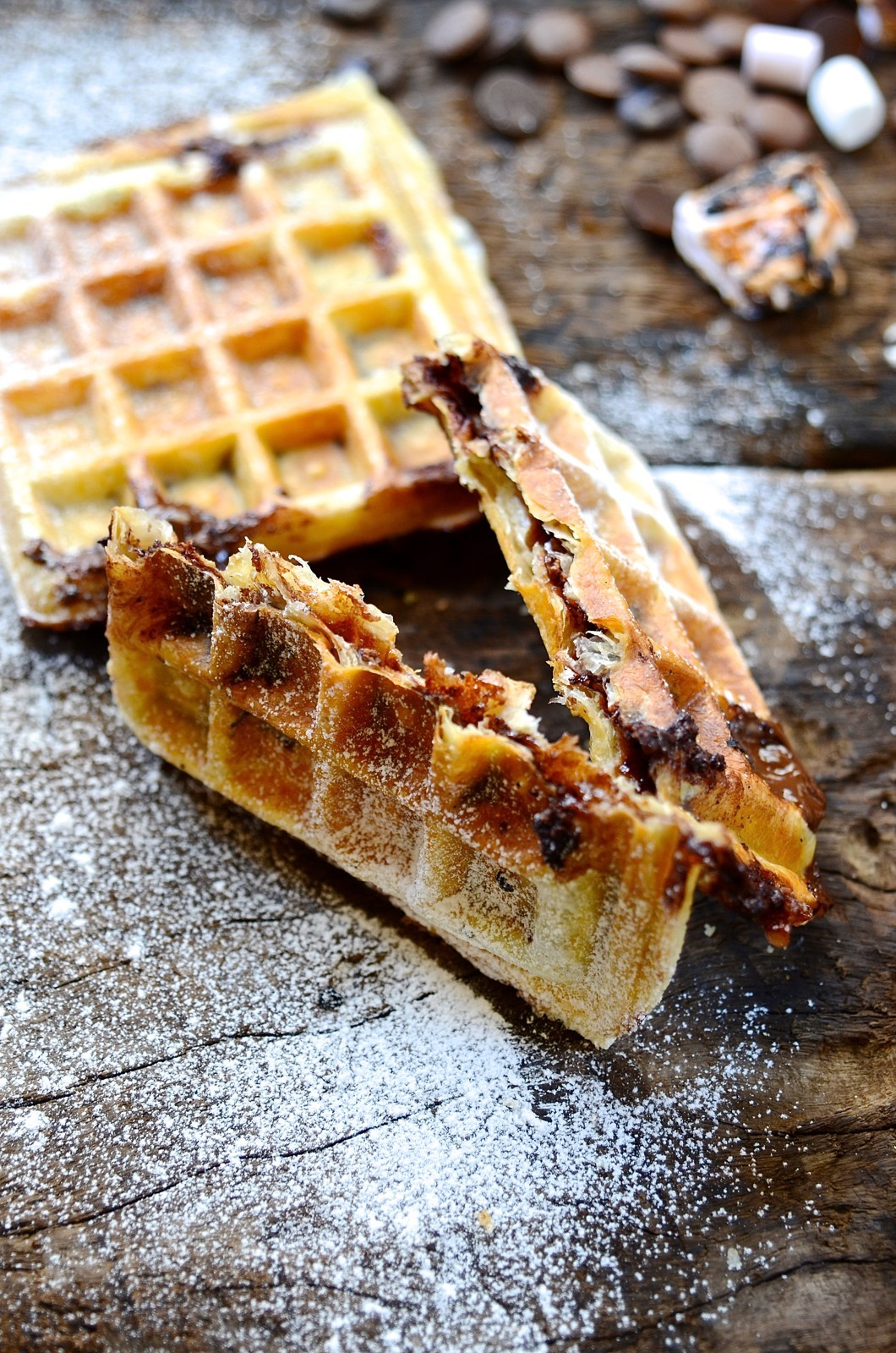 Puff pastry S'mores waffles