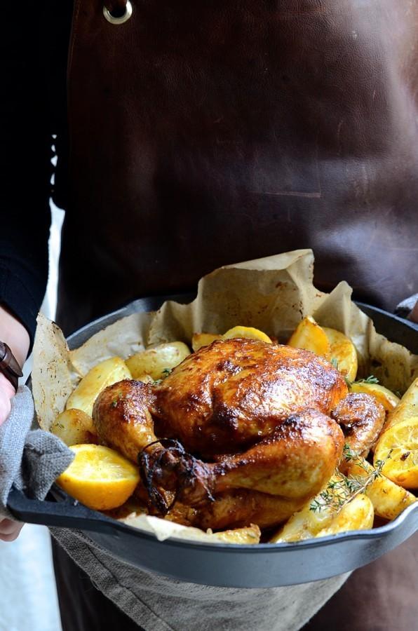 Chakalaka marinated roast chicken